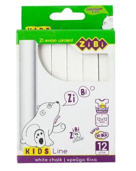 Мел белый, квадратный, 12 шт. в картонной коробке «Kids Line»