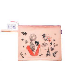 Папка А4, 33х26х1 см, плотный силикон, розовая «Романтик»