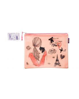 Папка А5, 25,5х21х1 см, плотный силикон, розовая «Романтик»