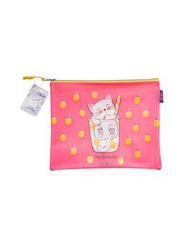 Папка А5, 25,5х21х1 см, плотный силикон, розовая «Котоктель»