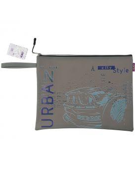 Папка А4, 33х26х1 см, плотный силикон, черная «Сити»