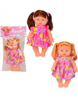 Кукла 25 см, музыкальная, на батарейке, в пакете 19х33 см