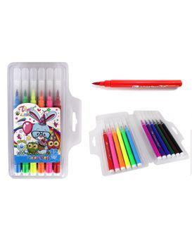 Фломастеры - кисточки, 12 цветов, в пластиковой упаковке, ИМП, арт. TD-6886-12