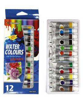 Краски акварельные 12 цветов по 9 мл «BERTAND» W912N