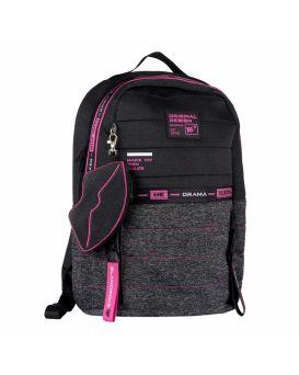 Рюкзак «Urban disign style Pink» серый / черный, ТМ YES, T-122