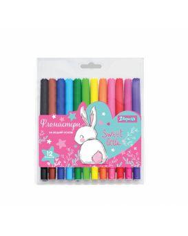 Фломастеры 12 цветов «Bunny» ТМ 1 Сентября