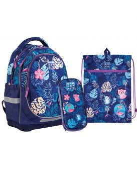 Набор рюкзак + пенал + сумка для обуви «Jungle» WK 724