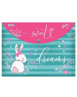 Папка - конверт на кнопке А4 «Bunny» ТМ 1 Сентября