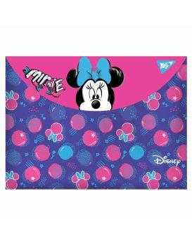 Папка - конверт на кнопке А4 «Minnie Mouse» ТМ YES