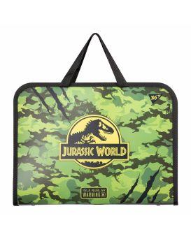 Папка - портфель на молнии с тканевыми ручками «JURASSIC WORLD» ТМ YES