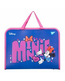 Папка - портфель на молнии с тканевыми ручками «Minnie Mouse» ТМ YES