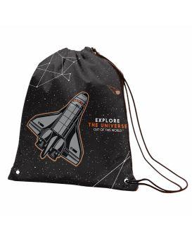 Сумка для обуви «Explore the universe» черная, ТМ YES, SB - 10