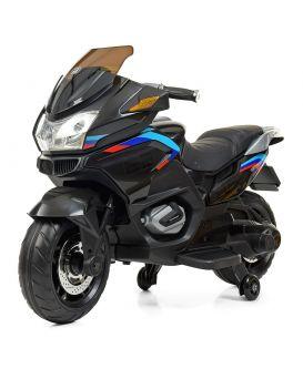 Мотоцикл 2 мотора 45 W, 1 аккум. 12v7ah, музыка, свет, MP3, USB, TF, EVA, кожаное сиденье, черный