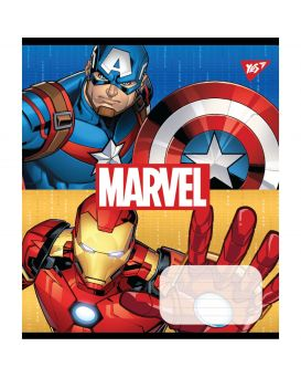 Тетрадь 12 л., А5 в косую линейку без доп. линии «Yes Avengers. Double power»