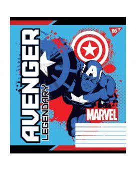 Тетрадь 12 л., А5 в косую линейку без доп. линии «Avengers. Legends»