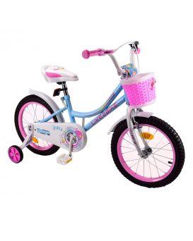 Велосипед детский 2-х колес. 18 дюймов с звонком «Like2bike Jolly» рама сталь, руч.гальма, голубой