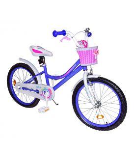 Велосипед детский 2-х колес. 20 дюймов с звонком «Like2bike Jolly» рама сталь, руч.тормоза,сиреневый