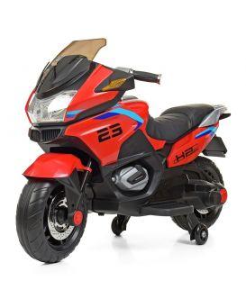 Мотоцикл 2 мотора 45 W, 1 аккум. 12v9ah, музыка, свет, MP3, USB, TF, EVA, кожаное сиденье, красный