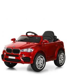 Машина на радиоупр., 2 мотора 30 W, 2 аккум. 6v5ah, МР3, USB, аморт., колеса EVA, кож., красная