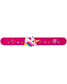 Линейка - браслет с фигуркой, 15 см, розовая