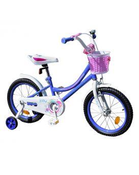 Велосипед детский 2-х колес., 18 дюйм., рама сталь, звонок, руч. тормоз, сиреневый «Like2bike Jolly»