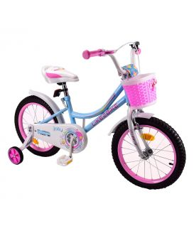 Велосипед детский 2-х кол. 14 дюймов «Like2bike Jolly» звонок, рама сталь, ручные тормоза, голубой