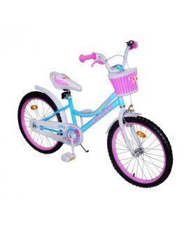 Велосипед детский 2-х кол. 20 дюймов «Like2bike Jolly» звонок, рама сталь, ручные тормоза, голубой