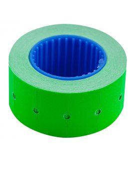Ценник 6 метров, 22 х 12 мм, 500 шт., прямоугольный, наружная намотка, зеленый