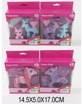 Герои мультфильма «My Little Pony» на батарейке, свет, расческа, в ассортименте, у кор.14,5х5х17 см