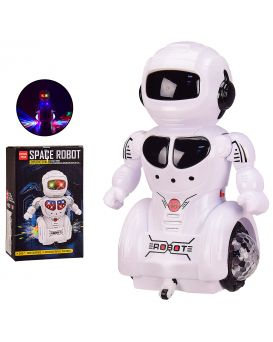 Робот 14х10х22 см, на батарейке, свет, звук, танцует, в коробке 14х10,5х23 см
