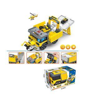 Гараж «Стройтехника 2 в 1» 25 см, подвижные детали, в коробке 25,5х16х15 см