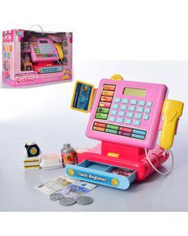 Кассовый аппарат 22 см, на батарейке, звук, калькулятор, сканер, продукты, у кор.34,5х26х15 см