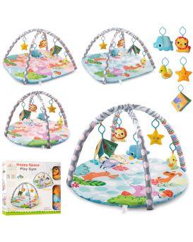 Коврик для младенца, дуга 2 шт., подвески плюшевые 5 шт., в ассортименте, в коробке 58х45,5х8,5 см
