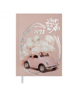 Ежедневник датированній 2022 год, A5 «ONLY» светло - розовый