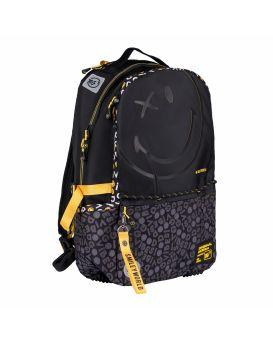 Рюкзак YES «Smiley World. Black & Yellow» черный, Т - 124