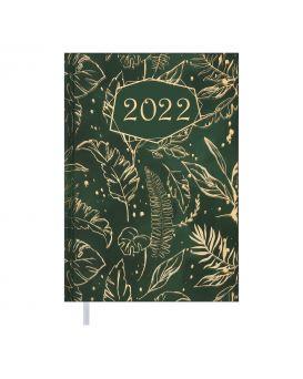 Ежедневник датированный 2022 год, А5, зеленый