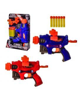 Бластер стреляет поролоновыми пулями, в ассортименте, в коробке 17,5х6х25,5 см
