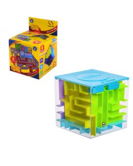 Головоломка «Куб 3D - Лабиринт» 8 см, в ассортименте, в коробке 8,7х8,7х12,5 см